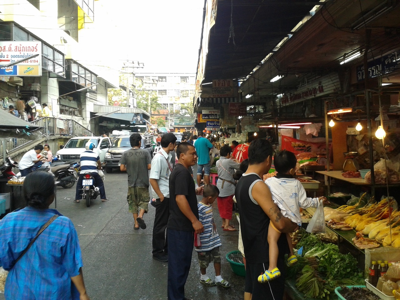 バンコクローカルマーケット フワイクワン市場